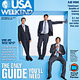 Hollywood Hunks Lee Pace, Zachary Levi and Bret Harris for USA Weekend Magazine